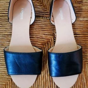 Express Black Slip on Shoes, Size 7